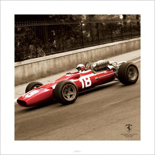 Ferrari F1 Vintage - Bandini 1967 (Sepia) by Anonymous