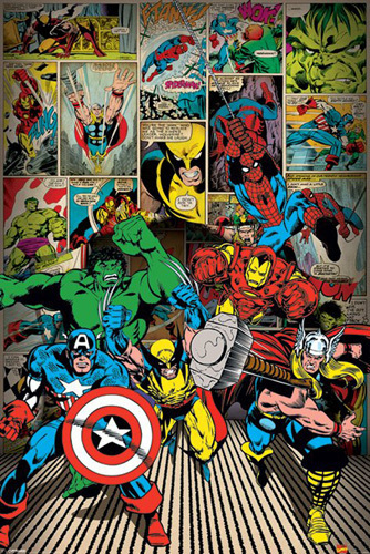 Marvel Comics - Here Come the Heroes by Marvel Comics