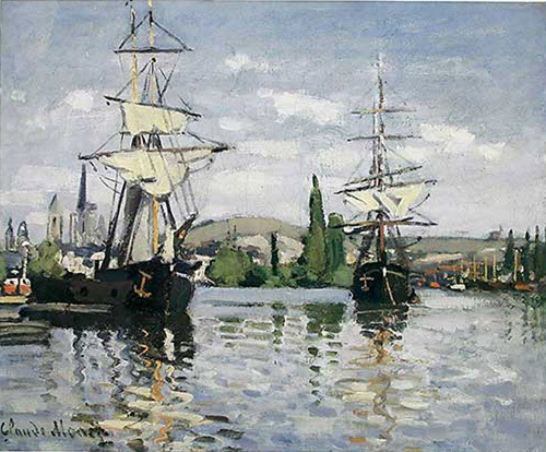The Seine at Rouen, 1872 by Claude Monet