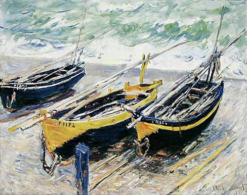 Three Fishing Boats, 1885 by Claude Monet