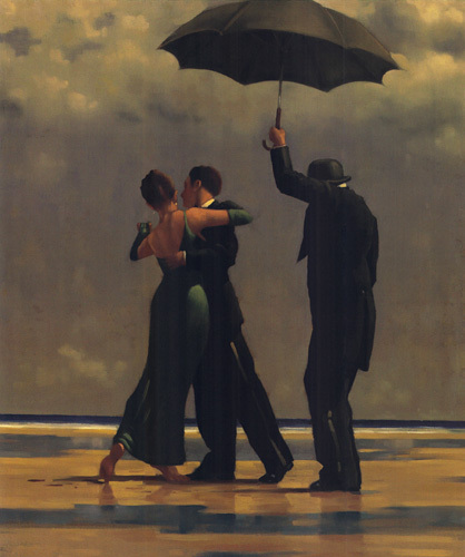 Dancer in Emerald by Jack Vettriano