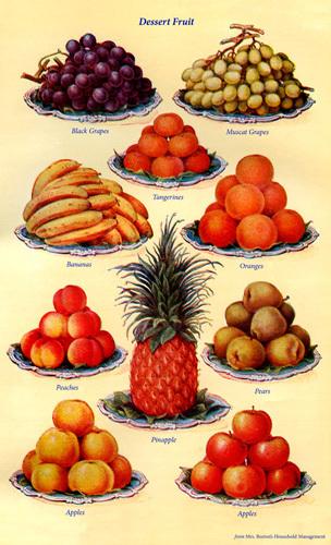 Dessert Fruit by Mrs Beeton