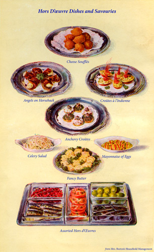 Hors D'Oeuvres Dishes and Savouries by Mrs Beeton