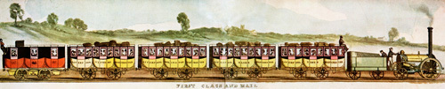 Liverpool-Manchester Railway, First Class by W. Crane