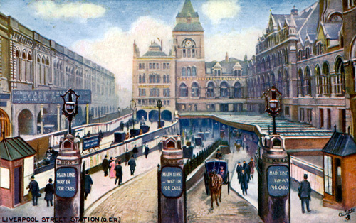 Liverpool Street Station, c.1900 by Gilette