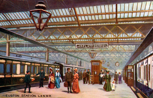Euston Station, c.1900 by Gilette