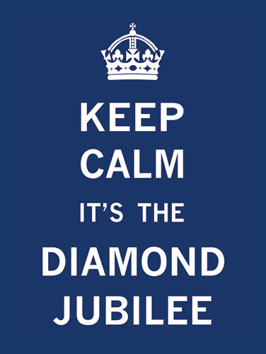 Keep Calm Diamond Jubilee I by The Vintage Collection