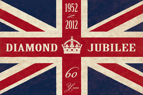 Jubilee Flag Print by The Vintage Collection