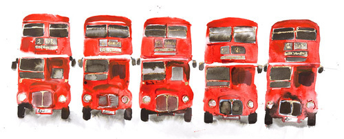 Bus Parade by Bridget Davies