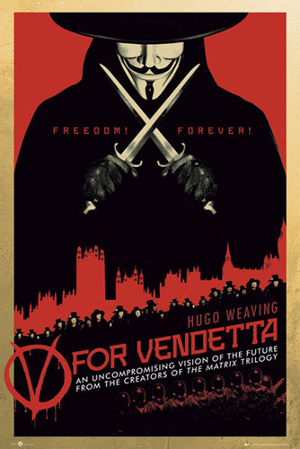 V For Vendetta - Red by Anonymous