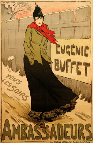 Eugenie Buffet - Ambassadeurs, 1883 by Lucien Maris Francois Metivet