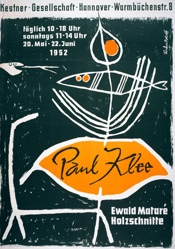 Paul Klee Exhibition, Hanover 1952 by Paul Klee