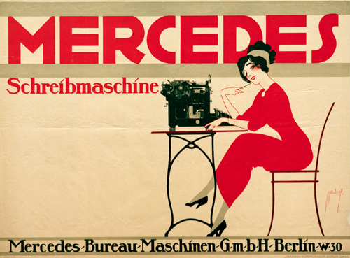 Mercedes Typewriter, 1911 by Ernst Deutsch