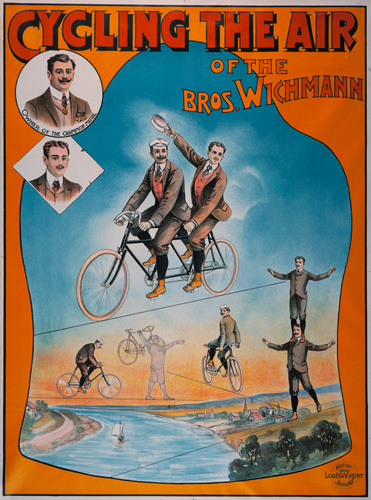 Wichmann Bros - Bicycle Acrobats, 1905 by Anonymous