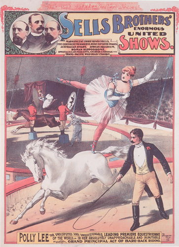 Sells Bros Circus - Polly Lee, 1883 by Anonymous