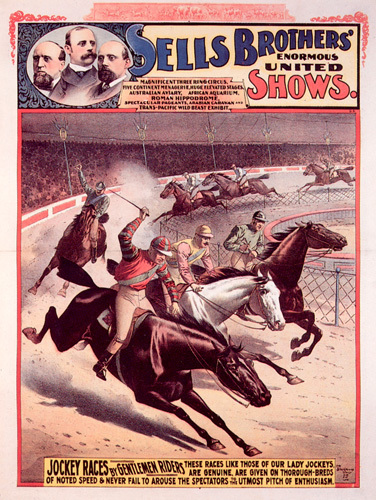 Sells Bros Circus - Jockey Races, 1893 by Anonymous