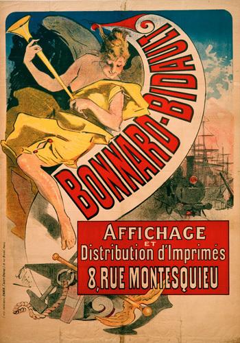 Bonnard-Bidault - Printers, 1887 by Jules Cheret