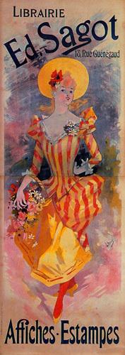 Libraire Ed. Sagot, 1891 by Jules Cheret