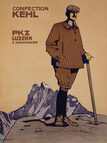 PKZ - Confection Kehl Mens Fashions, 1913 by Emile Cardinaux