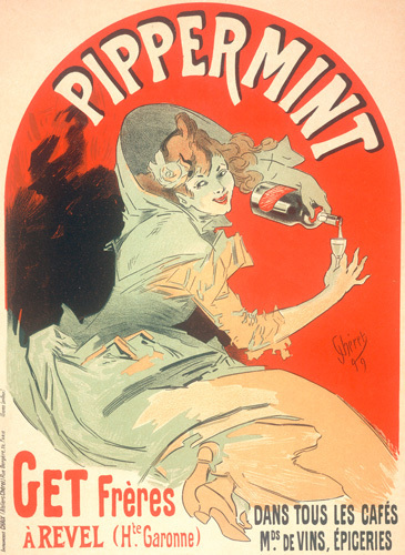 Get Freres Peppermint Liqueur, 1899 by Jules Cheret
