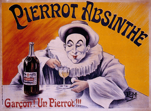 Pierrot Absinthe, 1900 by Anonymous