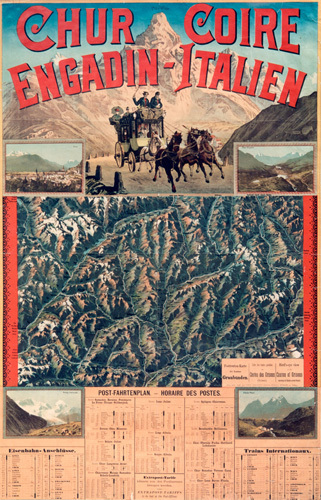 Grisons Postal Services, 1880 by Anonymous