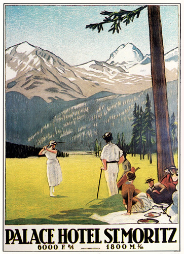 Palace Hotel St. Moritz, 1922 by Emile Cardinaux