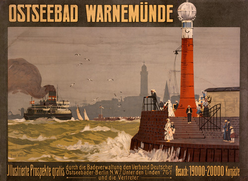 Ostseebad Warnemunde, 1910 by Paul Wallat