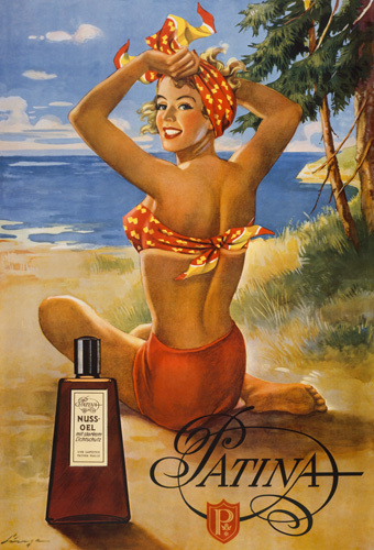 Patina Suntan Oil, 1951 by Anonymous