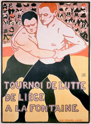 Wrestling Tournament, Liege 1899 by Armand Rassenfosse