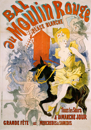 Bal au Moulin Rouge, 1892 by Jules Cheret