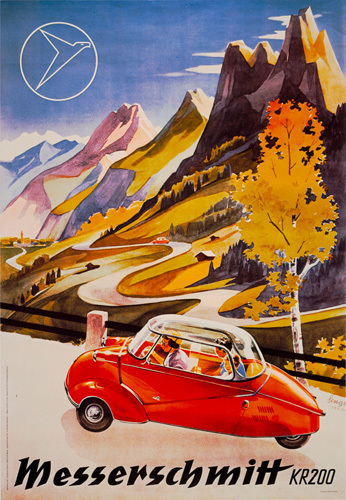Messerschmitt Bubble-Car, 1955 by Anonymous
