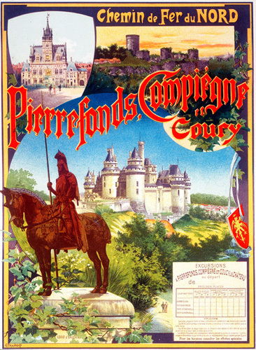 Pierrefonds, 1890 by Gustave Fraipont