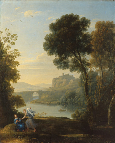 Landscape with Hagar and the Angel by Claude