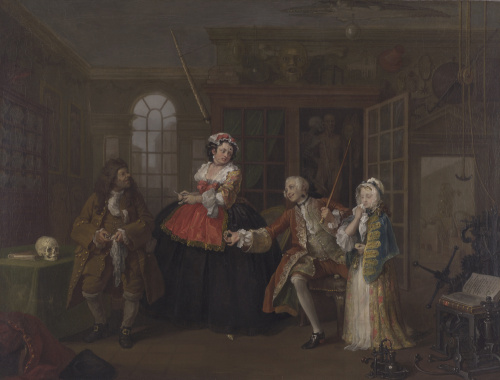 Marriage A-la-Mode: 3, The Inspection by William Hogarth