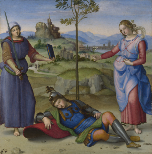 An Allegory ('Vision of a Knight') by Raphael