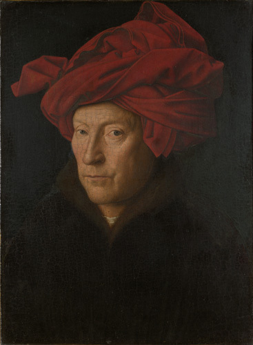 Portrait of a Man (Self Portrait?) by Jan Van Eyck