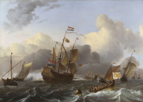 The Eendracht and a Fleet of Dutch Men-of-war by Ludolf Bakhuizen