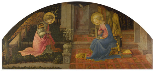 The Annunciation by Fra Filippo Lippi