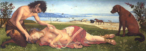 A Satyr mourning over a Nymph by Piero di Cosimo