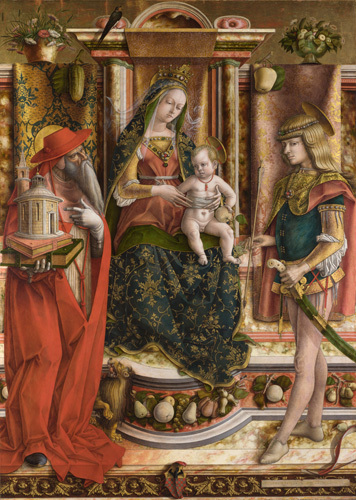 La Madonna della Rondine (The Madonna of the Swallow) by Carlo Crivelli