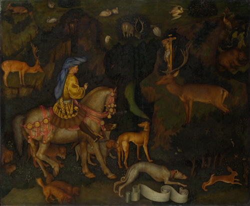 The Vision of Saint Eustace by Antonio Pisanello