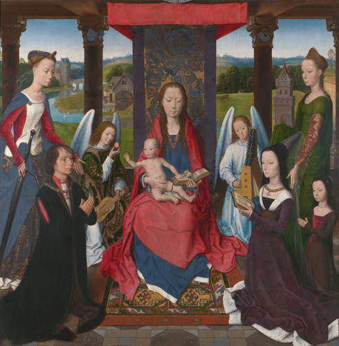 The Virgin and Child with Saints and Donors (The Donne Triptych) by Hans Memling