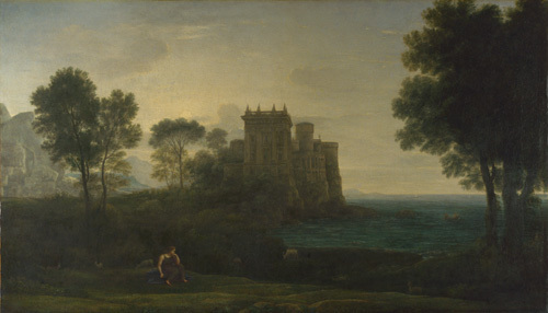 Landscape with Psyche outside the Palace of Cupid ('The Enchanted Castle') by Claude