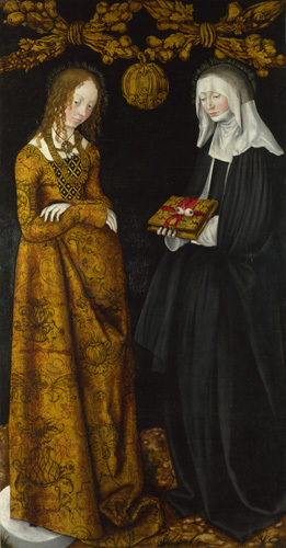Saints Christina and Ottilia by Lucas Cranach the Elder