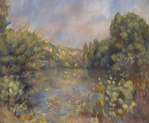 Lakeside Landscape by Pierre Auguste Renoir
