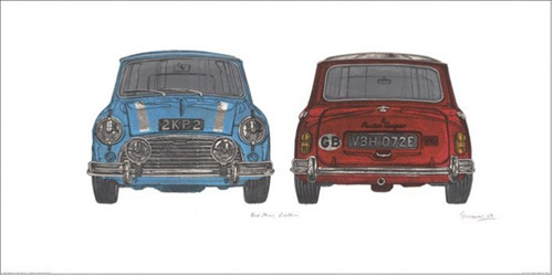 Blue Mini Red Mini by Barry Goodman