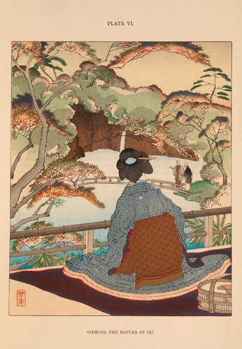 Viewing the Maples at Oji by Josiah Conder