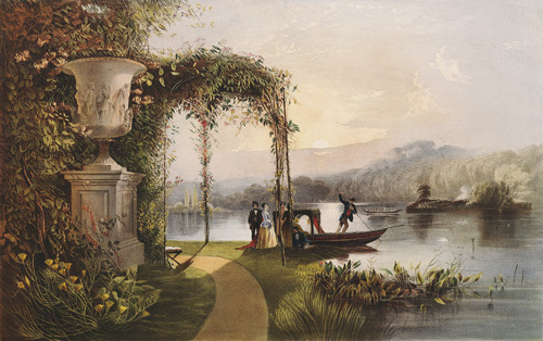 The Lake, Trentham Hall Gardens by Edward Adveno Brooke