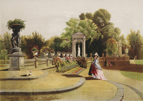 The Terrace, Trentham Hall Gardens by Edward Adveno Brooke